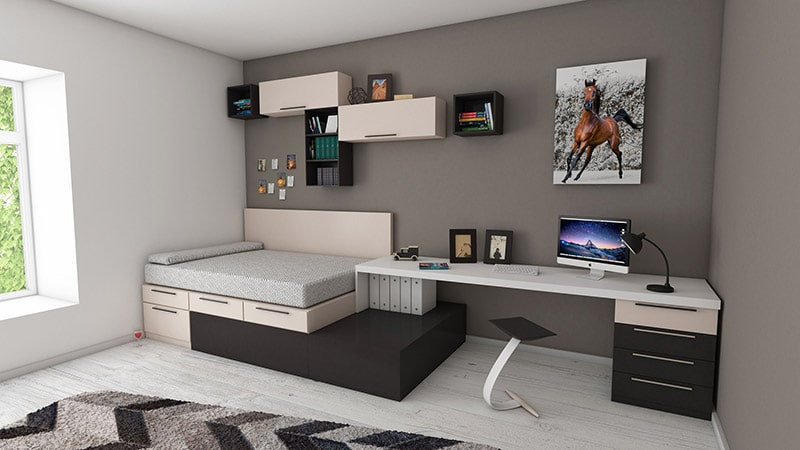 Grå-sovrum